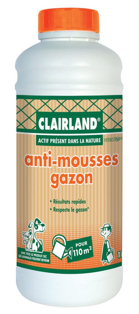 Anti-mousse gazon